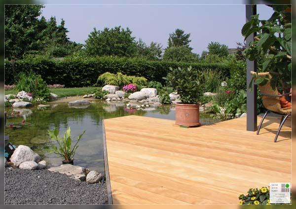 Gartenteiche an terrasse